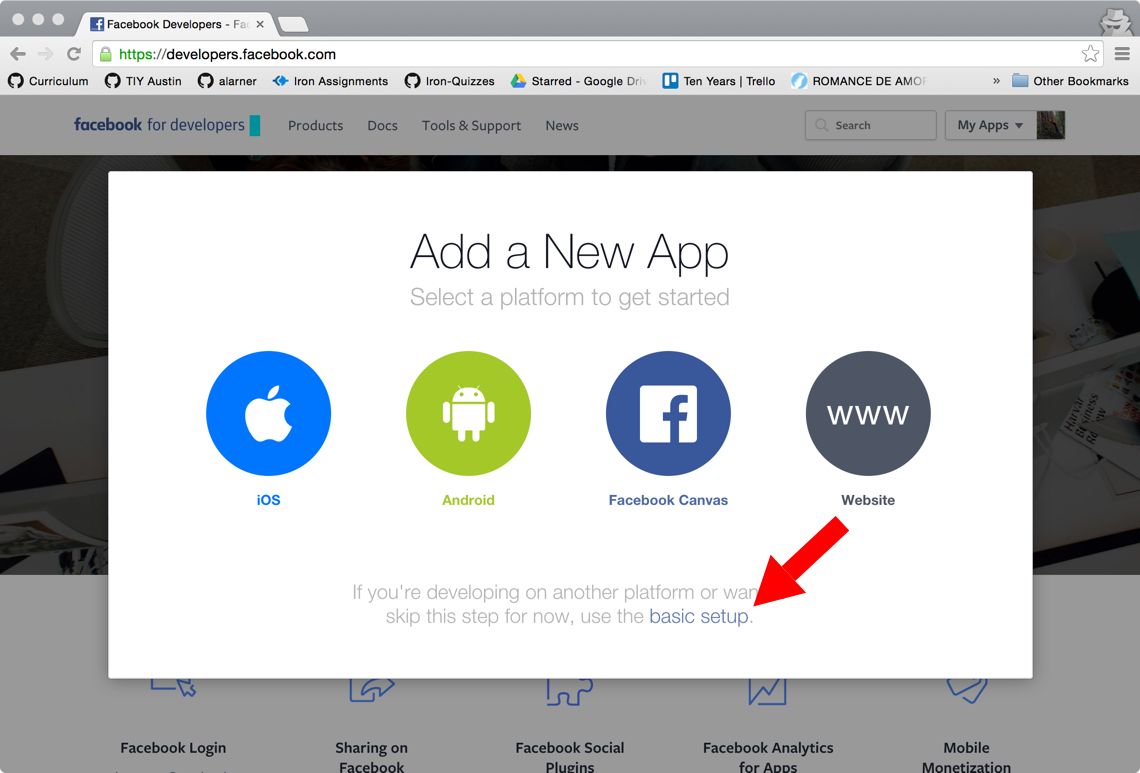 User authentication with Facebook